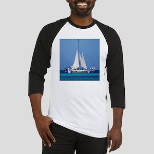 Sailing in Aruba Baseball Jersey