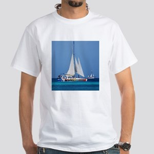 Sailing in Aruba White T-Shirt