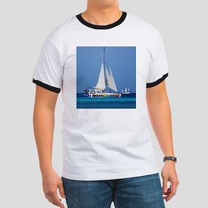 Sailing in Aruba Ringer T