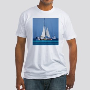 Sailing in Aruba Fitted T-Shirt