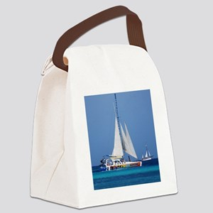 Sailing in Aruba Canvas Lunch Bag