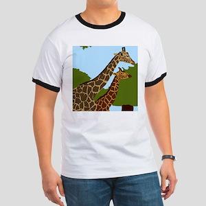 Giraffes Ringer T