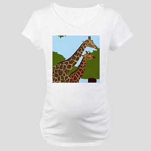 Giraffes Maternity T-Shirt