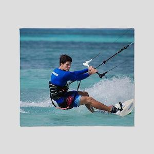 Kiteboarder Throw Blanket