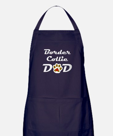 Border Collie Dad Apron (dark)