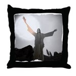 Jesus Raises Lazarus From The Dead Throw Pillow