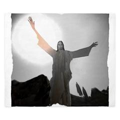 Jesus Raises Lazarus From The Dead King Duvet