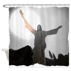 Jesus Raises Lazarus From The Dead Shower Curtain