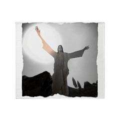 Jesus Raises Lazarus From The Dead Throw Blanket