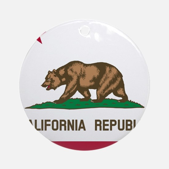 Flag of California Ornament (Round)