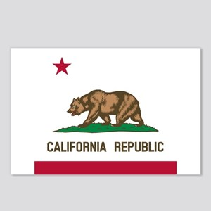 Flag of California Postcards (Package of 8)
