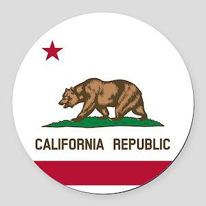 Flag of California Round Car Magnet
