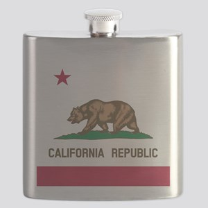 Flag of California Flask