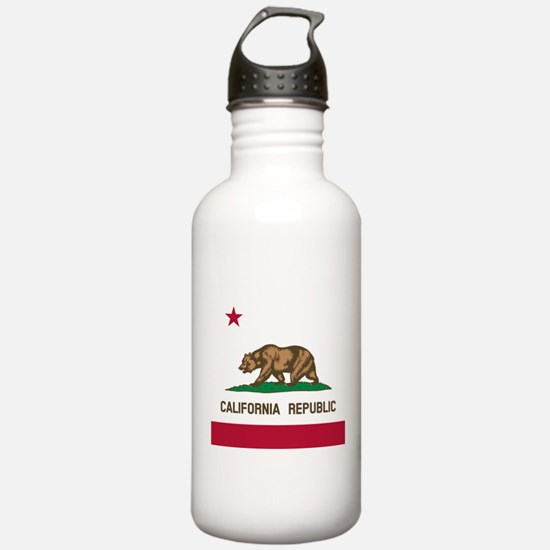 Flag of California Sports Water Bottle