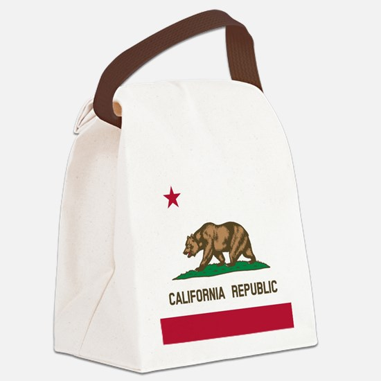 Flag of California Canvas Lunch Bag