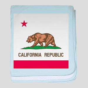 Flag of California baby blanket