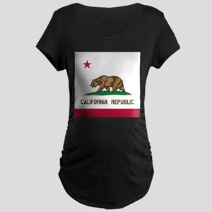 Flag of California Maternity T-Shirt