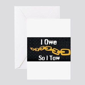 Tow Truck Driver Greeting Cards