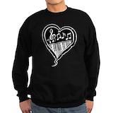 Treble and piano clef Sweatshirt (dark)