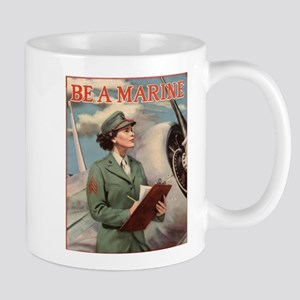 WWII USMC Women Recruiting Poster Mugs