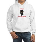 Ninja Civil Engineer Hooded Sweatshirt