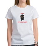 Ninja Civil Engineer Women's T-Shirt