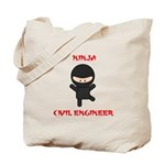 Ninja Civil Engineer Tote Bag