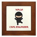 Ninja Civil Engineer Framed Tile