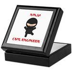 Ninja Civil Engineer Keepsake Box