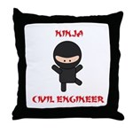 Ninja Civil Engineer Throw Pillow
