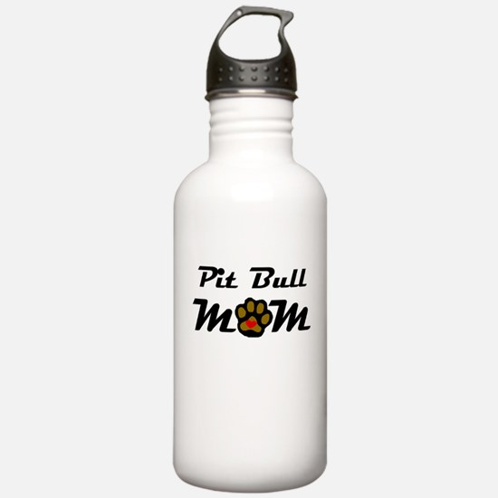 Pit Bull Mom Water Bottle