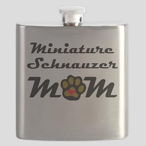 Miniature Schnauzer Mom Flask