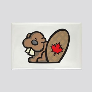 Cute Canadian Beaver Rectangle Magnet