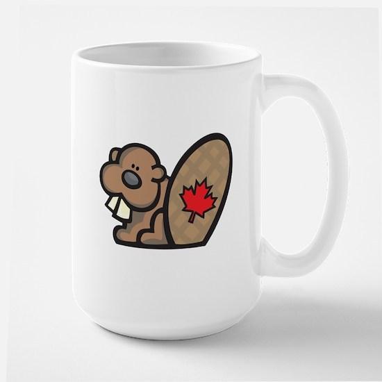 Cute Canadian Beaver Large Mug