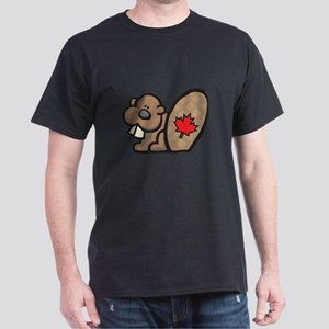Cute Canadian Beaver Dark T-Shirt