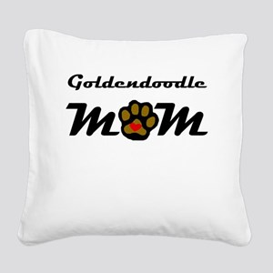 Goldendoodle Mom Square Canvas Pillow