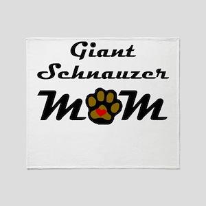 Giant Schnauzer Mom Throw Blanket