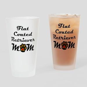 Flat-Coated Retriever Mom Drinking Glass
