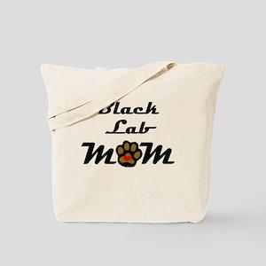 Black Lab Mom Tote Bag