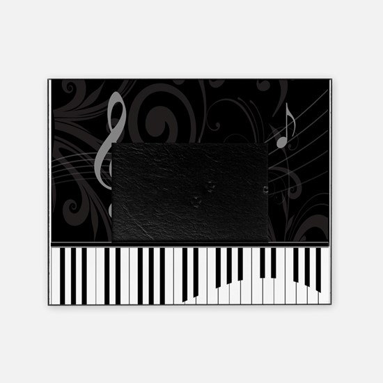 Whimsical Piano and musical notes Picture Frame