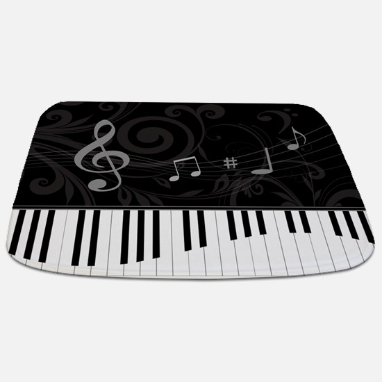 Whimsical Piano and musical notes Bathmat
