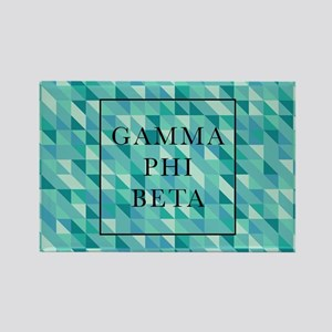 Gamma Phi Beta Geometric Rectangle Magnet