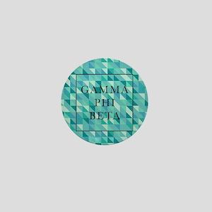 Gamma Phi Beta Geometric Mini Button