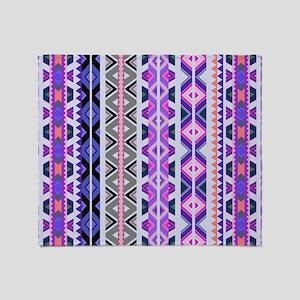 Mix #548, Purple Aztec Throw Blanket
