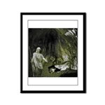 Daniel And The Lions Den Framed Panel Print