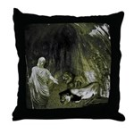 Daniel And The Lions Den Throw Pillow