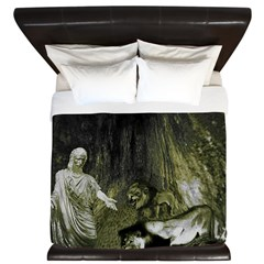 Daniel And The Lions Den King Duvet