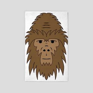 Bigfoot Face 3'x5' Area Rug