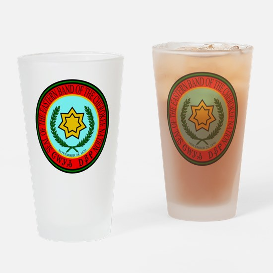Eastern Band Of The Cherokee Seal Drinking Glass