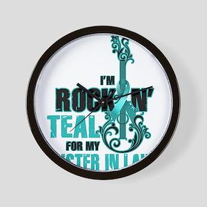 RockinTealFor SIsterInLaw Wall Clock